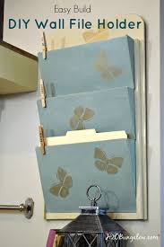 easy build wall file folder holder build this cute and functional file holder with only