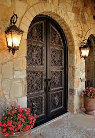 wrought iron front doors23 Metal Front Doors That Are Really Inspiring  Shelterness