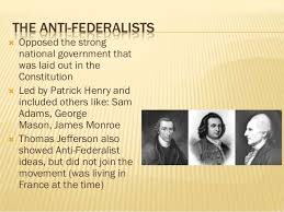 federalists and anti federalists anti federalist