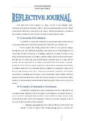 writing reflective journals handouts