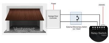 using the fibaro 1x 2 5kw relay fgs 212 to trigger the door