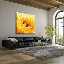 extra large wall art sunflower painting