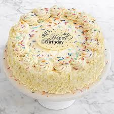 Birthday Vanilla Bean Cake With Happy Birthday Plaque