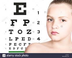 Child Eye Test Chart Childrens Eye Test Chart Testing Stock Photos Childrens