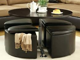 round coffee table with seats glass coffee table with stools underneath