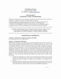 Maintenance Resume Cover Letter Maintenance Manager Resume Sample New Plumbing Supervisor Template 47