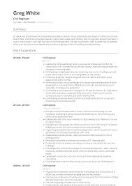 Civil Engineer Resume Samples And Templates Visualcv