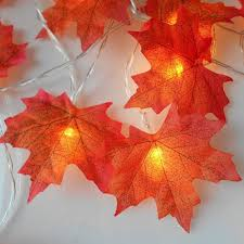 Maple Light Rail Molding Us 2 1 15 Off 1 5m 2m 3m 4m Maple Leaves Led String Autumn Stair Railing Decoration Plants Fence Led Decorative Lights For Christmas Weddings In Led