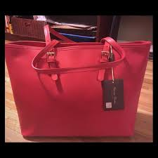 leather tote bag made in italy nwt