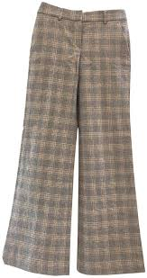 Flare Pants Pattern Mesmerizing Theory Plaid Good Wool Trousers In Pattern Flared Pants Size 48 XS