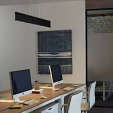 Home office lights Sloped Ceiling Linear Suspension Lights Ylighting Office Lighting Home Office Workspace Ylighting