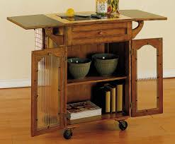 breathtaking oak kitchen carts and islands with textured glass cabinet  doors and drop leaf table also