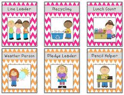 Bright Chevron Job Chart Cards Freebie Classroom Ideas