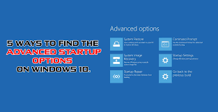 Advanced Options Windows 10 How To Get To The Advanced Startup Options On Windows 10 Windows