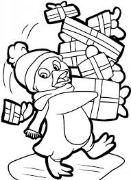 Trendy Inspiration Christmas Penguin Coloring Pages Clipart Panda