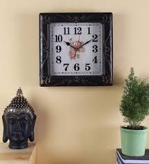 antique plastic square wall clock