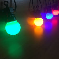 Colored String Lights Us 32 49 35 Off Vnl Ip65 Milky Globe G50 Multicolor Bulb String Connectable Outdoor Colorful String Lights For Wedding Christmas Garland Party In