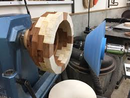 the next step is to contour bowl outside and turn bowl inside to get desired wall thickness about 1 4 six rings is about as deep as i like