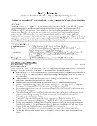 Ideas Of Sap Support Project Manager Resume Also Software