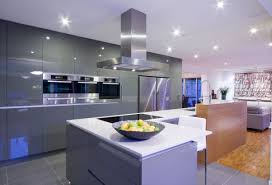 Modern Kitchen Living Room Picture Of Modern Kitchen Living Room Integrated Design With Grey