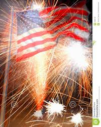 American Flag And Fireworks Stock Photo Image Of Fireworks
