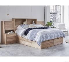 Tasmanian Oak Bedroom Furniture Rockhampton Walnut Gaslift Bed