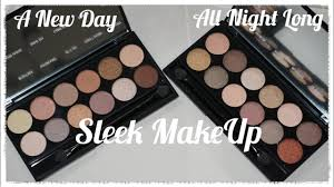 review new sleek makeup a new day all night long eyeshadow palettes