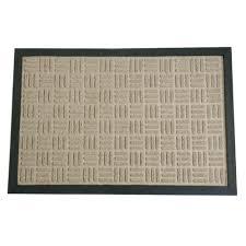Rubber Cal Wellington Rubber Tan Carpet Floor Mat 4 x 6 Free
