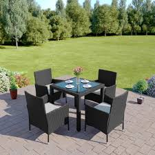 grey rattan dining table. on sale 5 piece garden or patio dining set grey rattan table