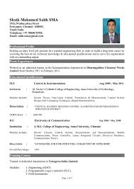 resumes for mechanical engineers fresher engineer resume template electronics and communication