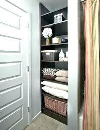 bathroom linen closet storage ideas cabinet