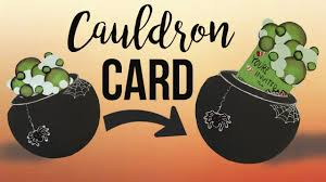 Halloween Invitations Cards Cauldron Card Diy Halloween Invitation Card