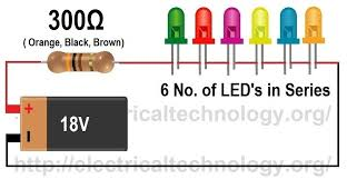 how to calculate the value of resistor for led led s circuits formula to the value of resistor for series led circuit