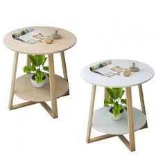 simple living room small coffee table imitation wood small round table h36