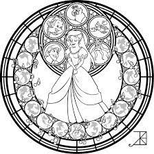 Image Result For Disney Stained Glass Coloring Pages Disney