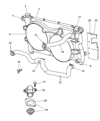 Radiator related parts for 1998 chrysler town country rh moparpartsgiant chrysler town and country engine diagram chrysler town and country front end
