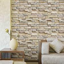 Self-adhesive 3D Brick Schist Wallpaper ...