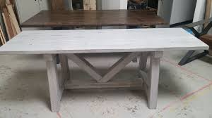distressed grey trestle farmhouse table reclaimed wood farmhouse dining table rustic table