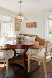 25 space savvy banquettes with built in storage underneath corner banquette with round table