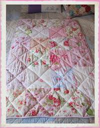 Best 25+ Cot quilt ideas on Pinterest | Handmade baby quilts, Baby ... & Baby girls pink patchwork cot quilt ~ with Cath Kidston fabrics, and lots  of Roses Adamdwight.com