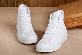 top quality converse all white high tops leather chuck taylor all star shoesnewest usanewest d9b4b 7d387