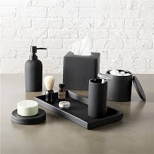 amazing bathroom accessories inside rubber coated black bath cb2 plans 0