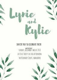 Basic Invitation Template Simple Wedding Invitation Templates