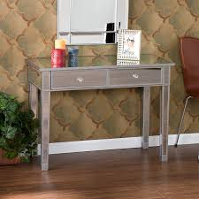 hayworth mirrored furniture. amazoncom southern enterprises mirage mirrored 2 drawer media console table matte silver finish with faux crystal knobs kitchen u0026 dining hayworth furniture