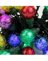 find the best deals on set of 20 led multi color color changing set of 25 multi color tinsel wide angle led g30 globe christmas lights green