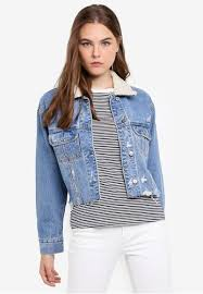 Cropped Girlfriend Denim Jacket
