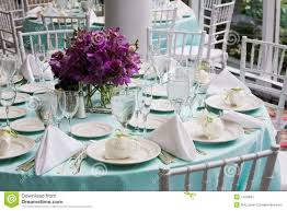 Table Set For A Wedding Reception Stock Image Image 7424941