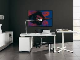 cool white color home office furniture with desk swivel chair table reading lamp cabinet wall decor and tile flooring ideas captivating modern captivating modern home office design ideas