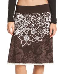 Desigual Size Chart Desigual Chocolate White Dolly Floral A Line Skirt Zulily