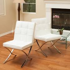 white leather dining chairs. Milania White Leather Dining Chairs (Set Of 2) By Christopher Knight Home E